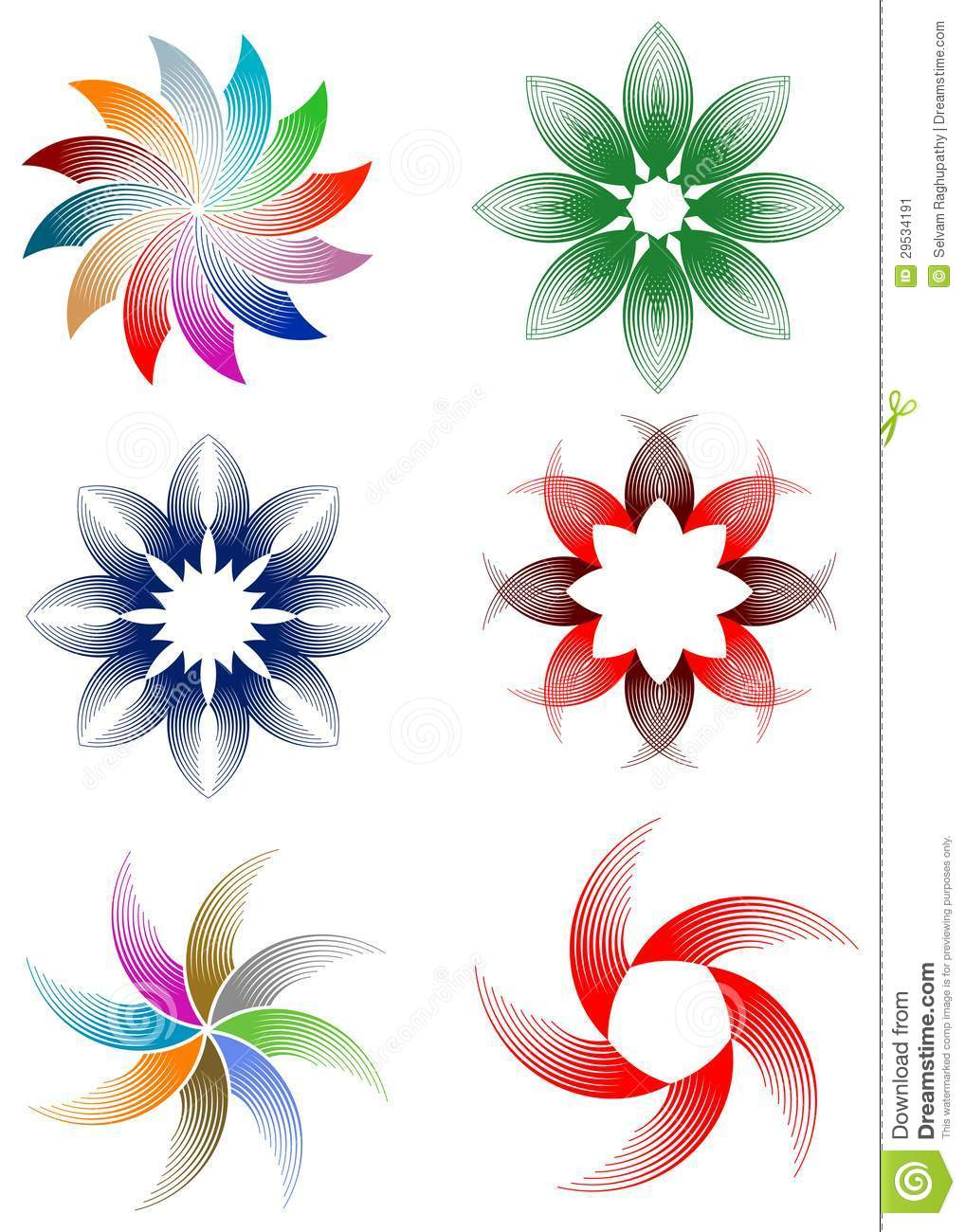 Flowers design set