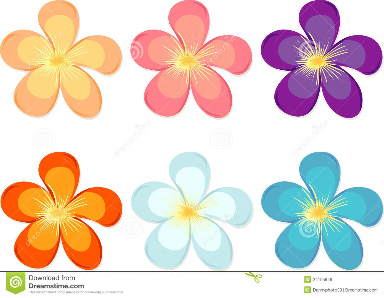 flowers of different colours royalty free stock images 3d shape clip art pyramid 3d shape clipart