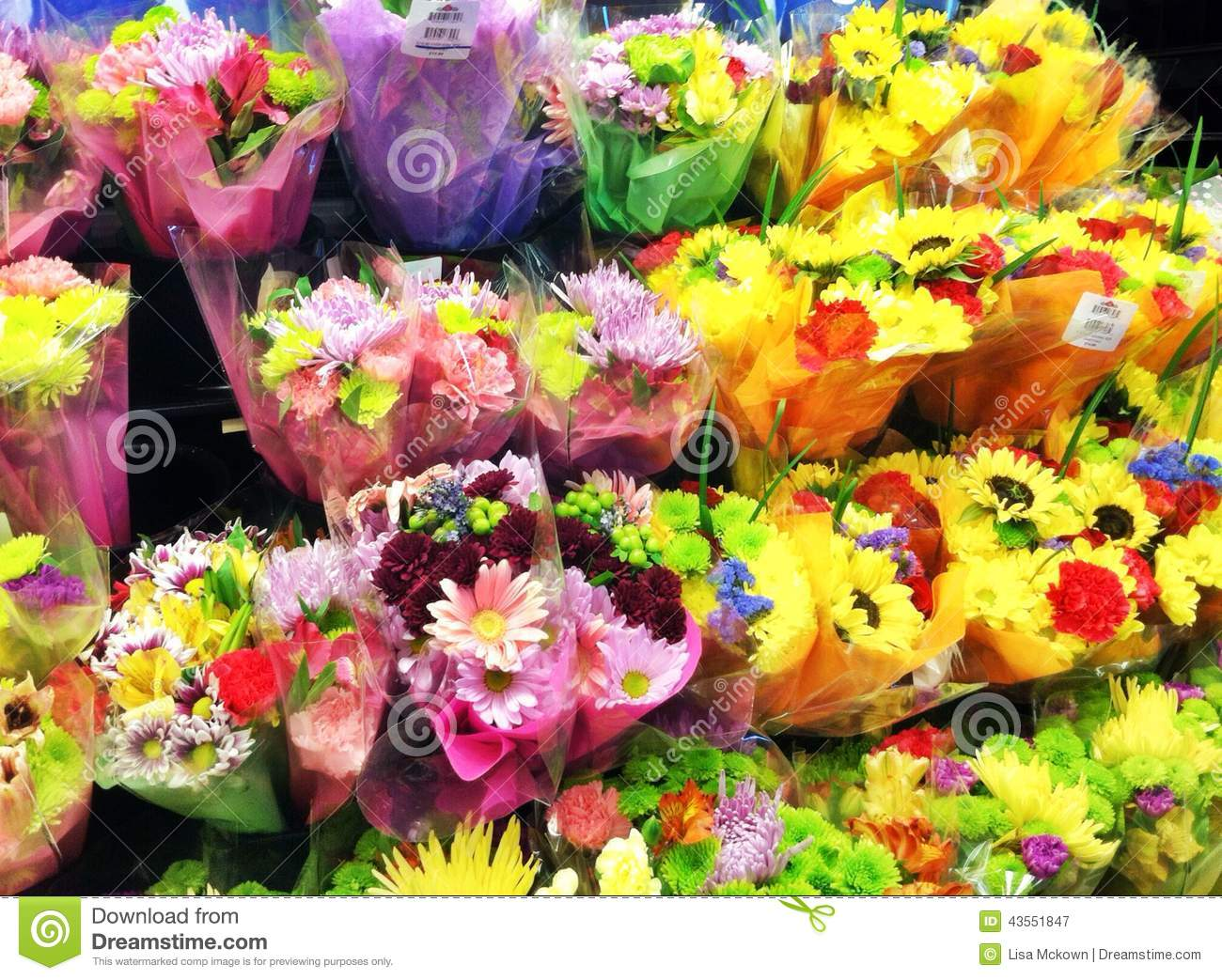 Flowers On Display At Flower Shop Stock Image Image Of