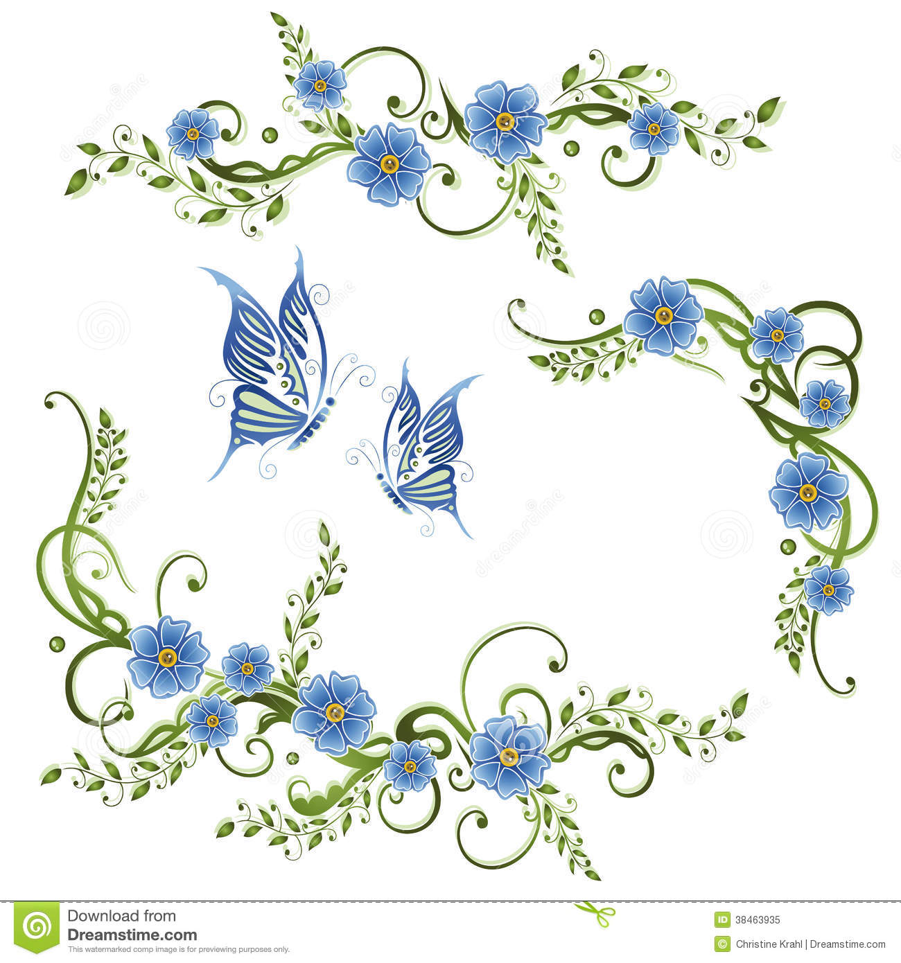 Flowers Forget Me Not Royalty Free Stock Photo Image