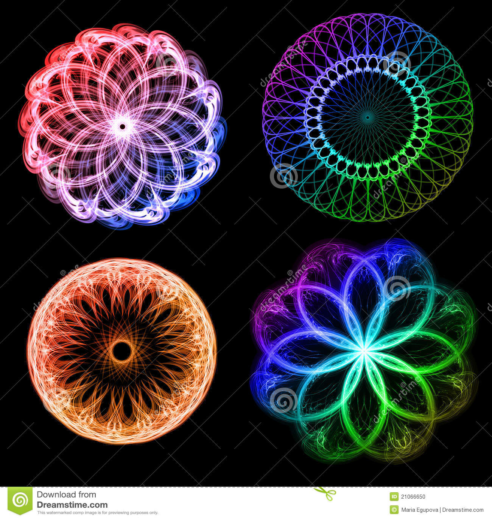 Fractal Black Flower Free Stock Photo: Flowers Fractals Stock Illustration. Illustration Of Tech