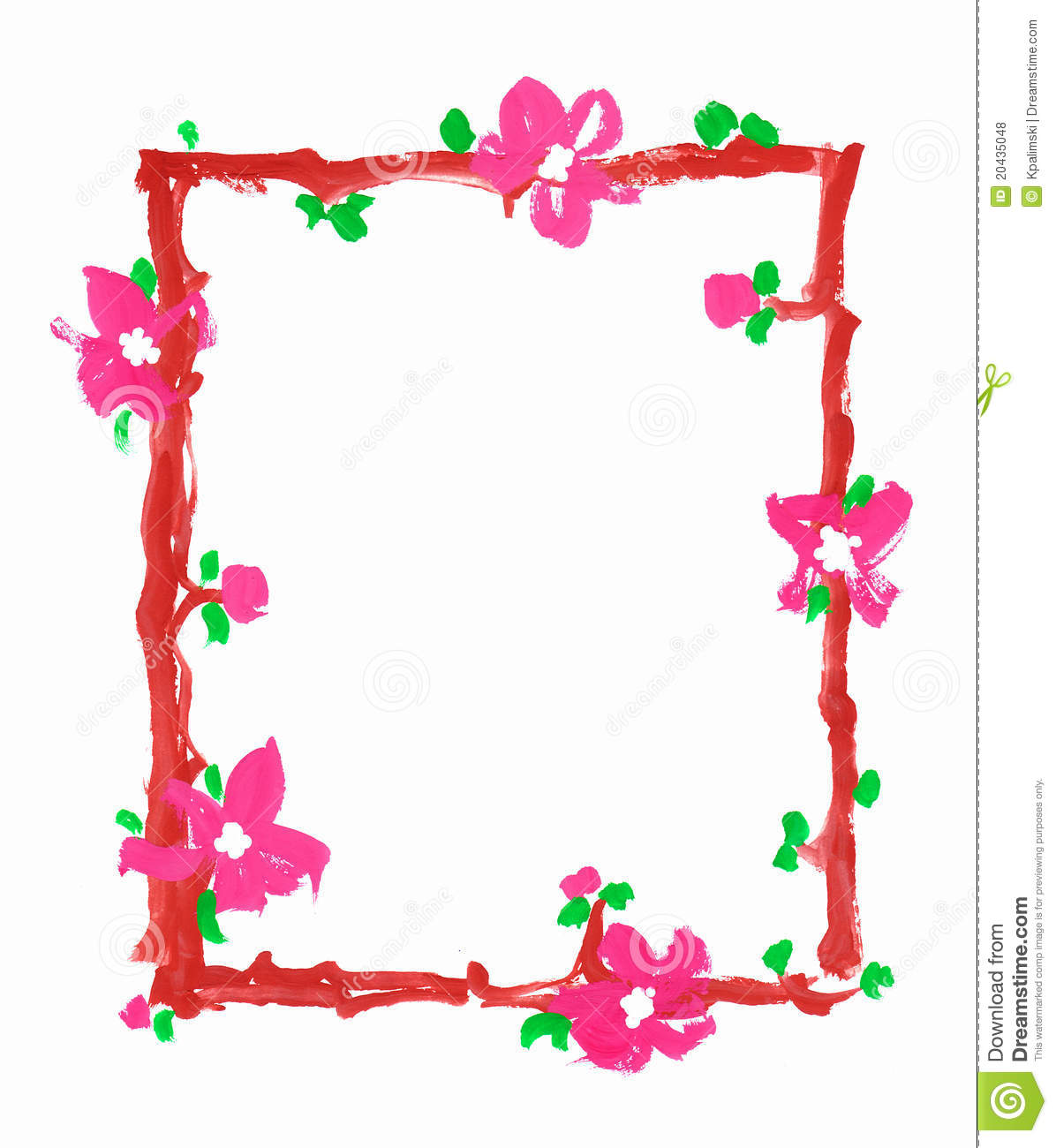 Flowers Frame Border Paper Paint Sketch Royalty Free Stock Photos ...