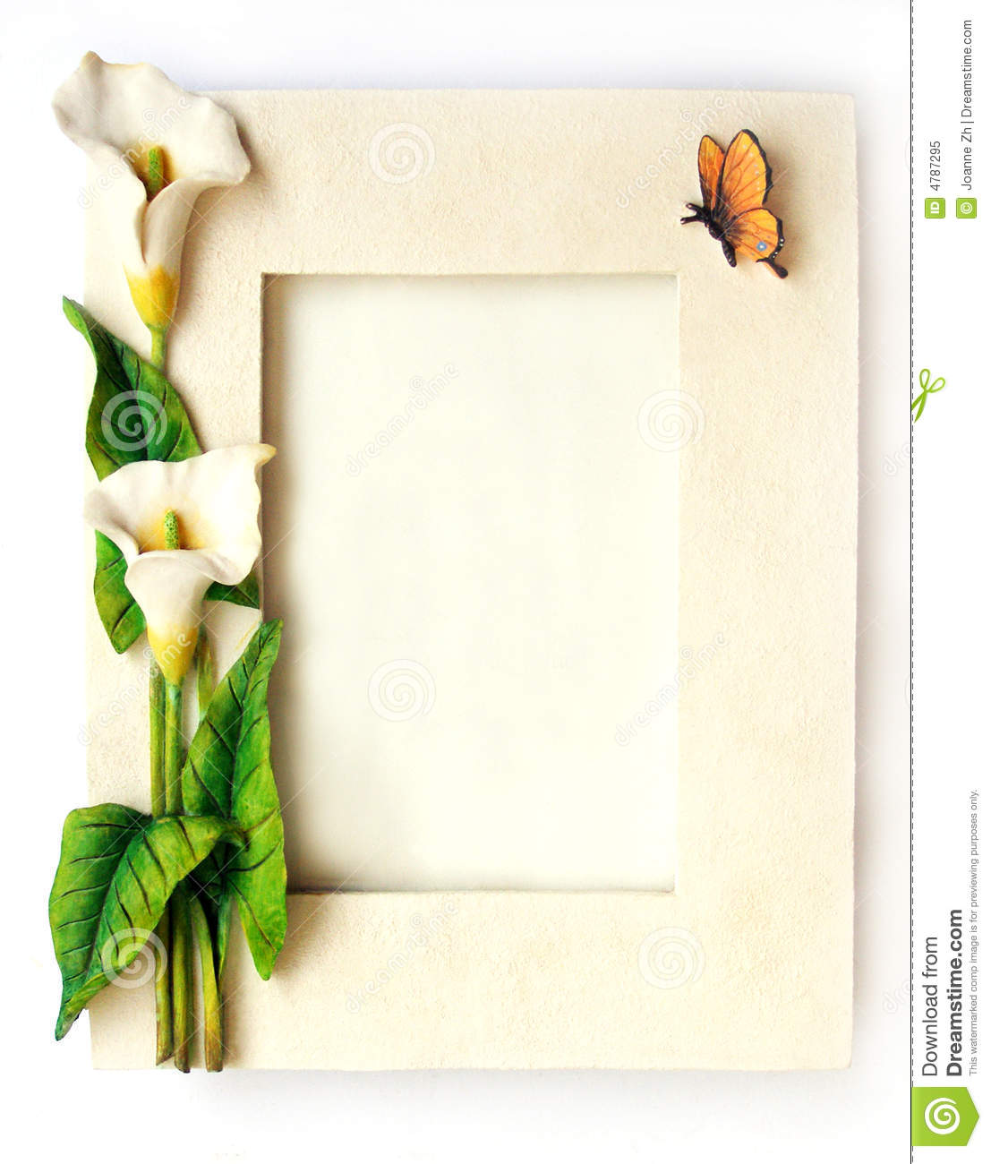 Flowers Frame White Arum Lilies Flower Royalty Free Stock