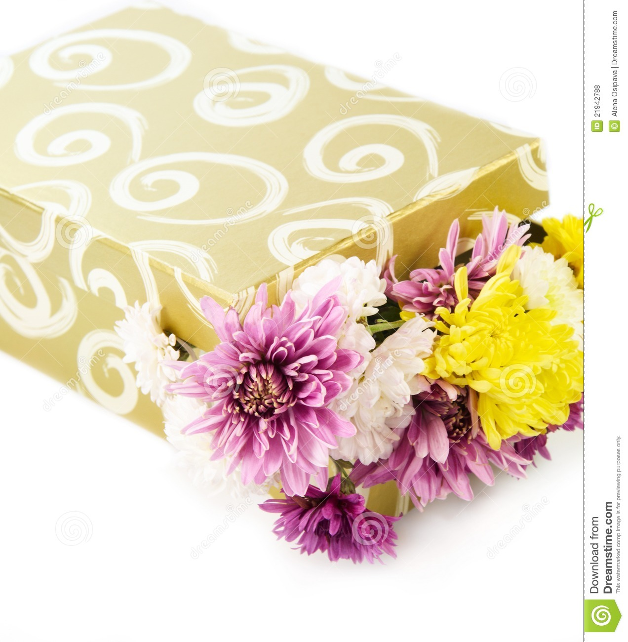 Flowers In A Gift Box Royalty Free Stock s Image