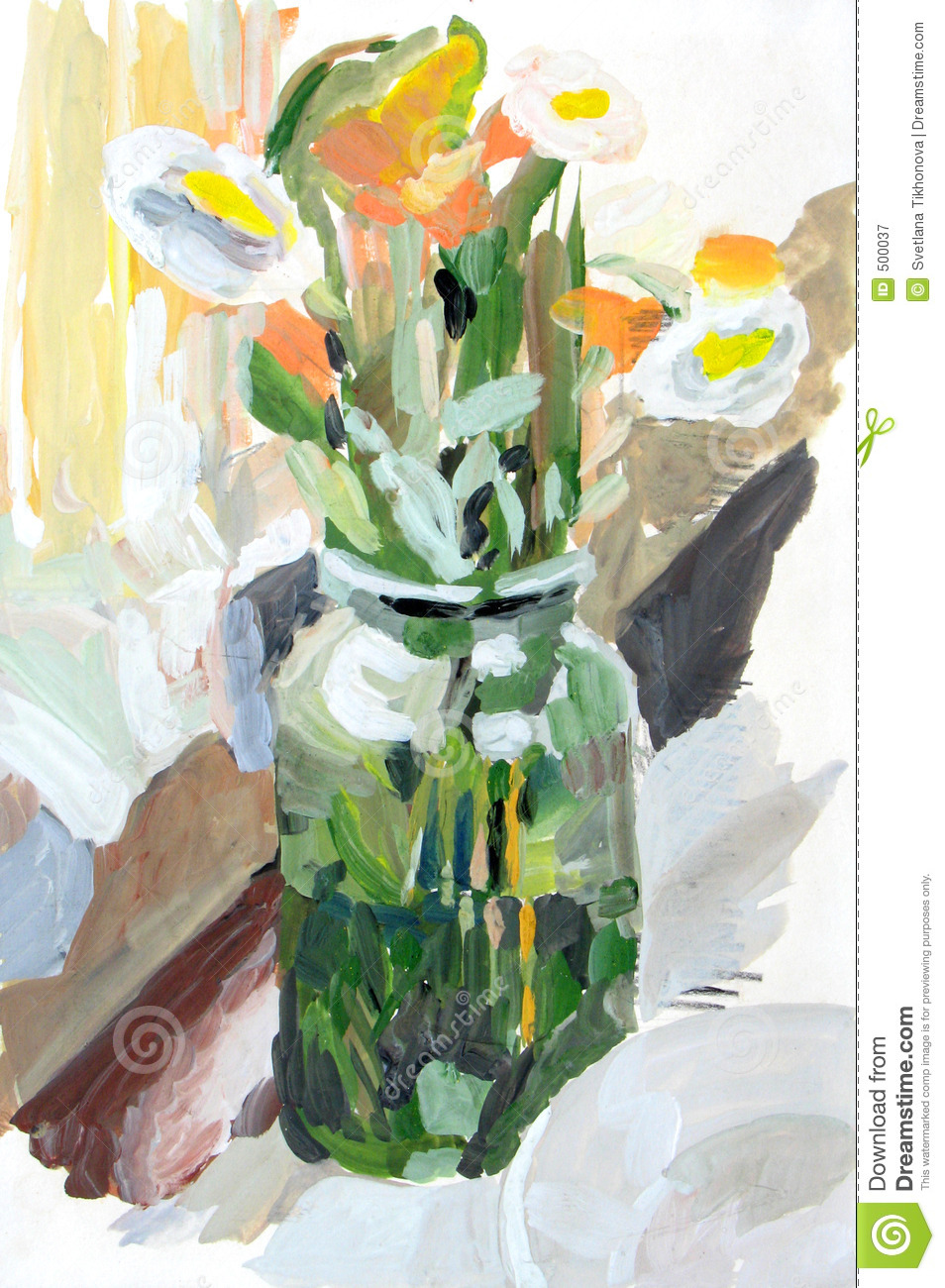 Flowers In A Glass Jar Royalty Free Stock Photography ...