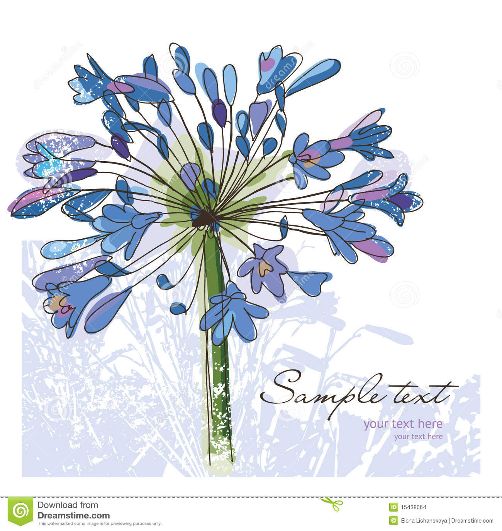 Flowers , greeting card