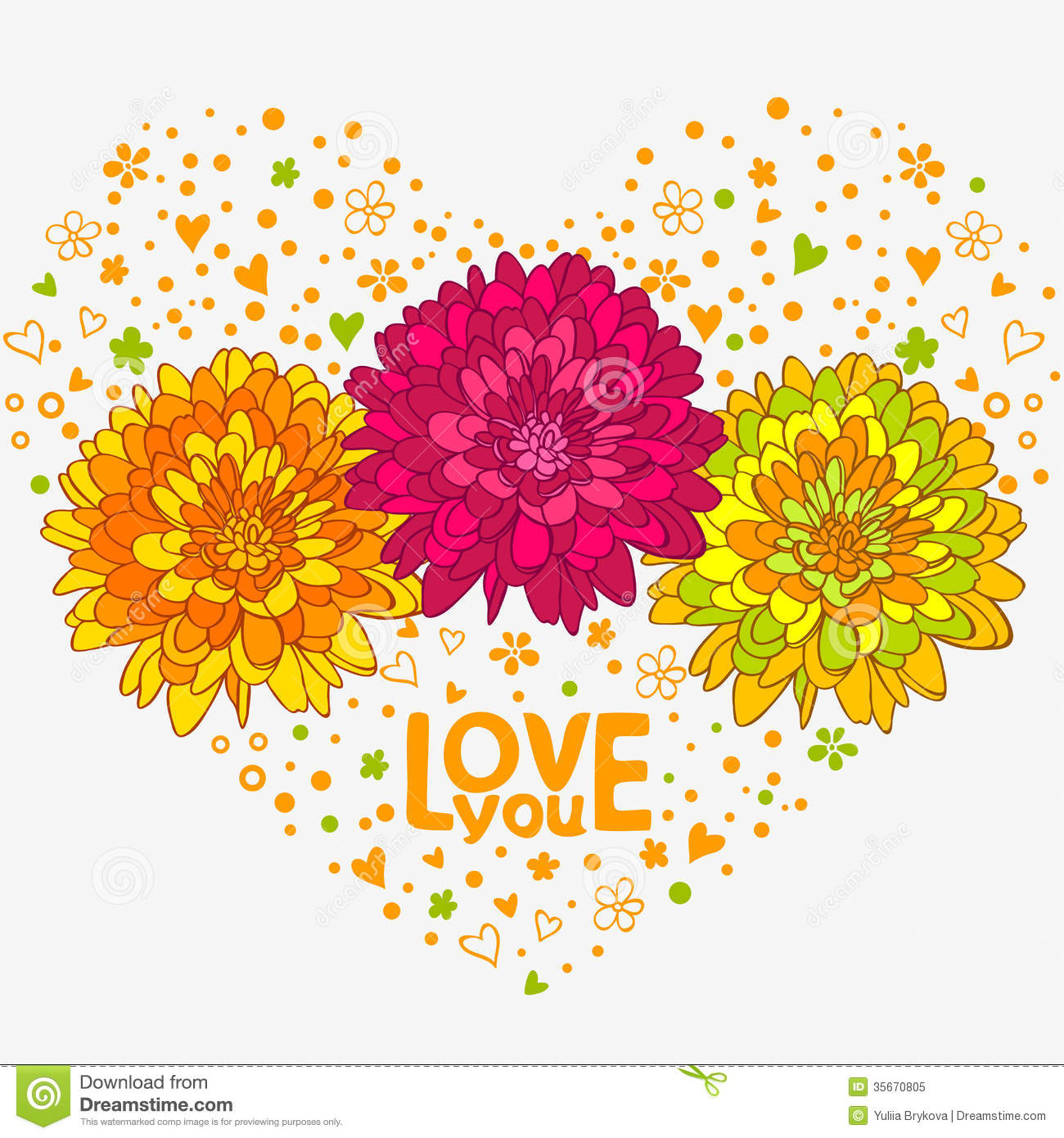 Flowers hearts stock illustration illustration of greetings 35670805 flowers hearts izmirmasajfo Choice Image