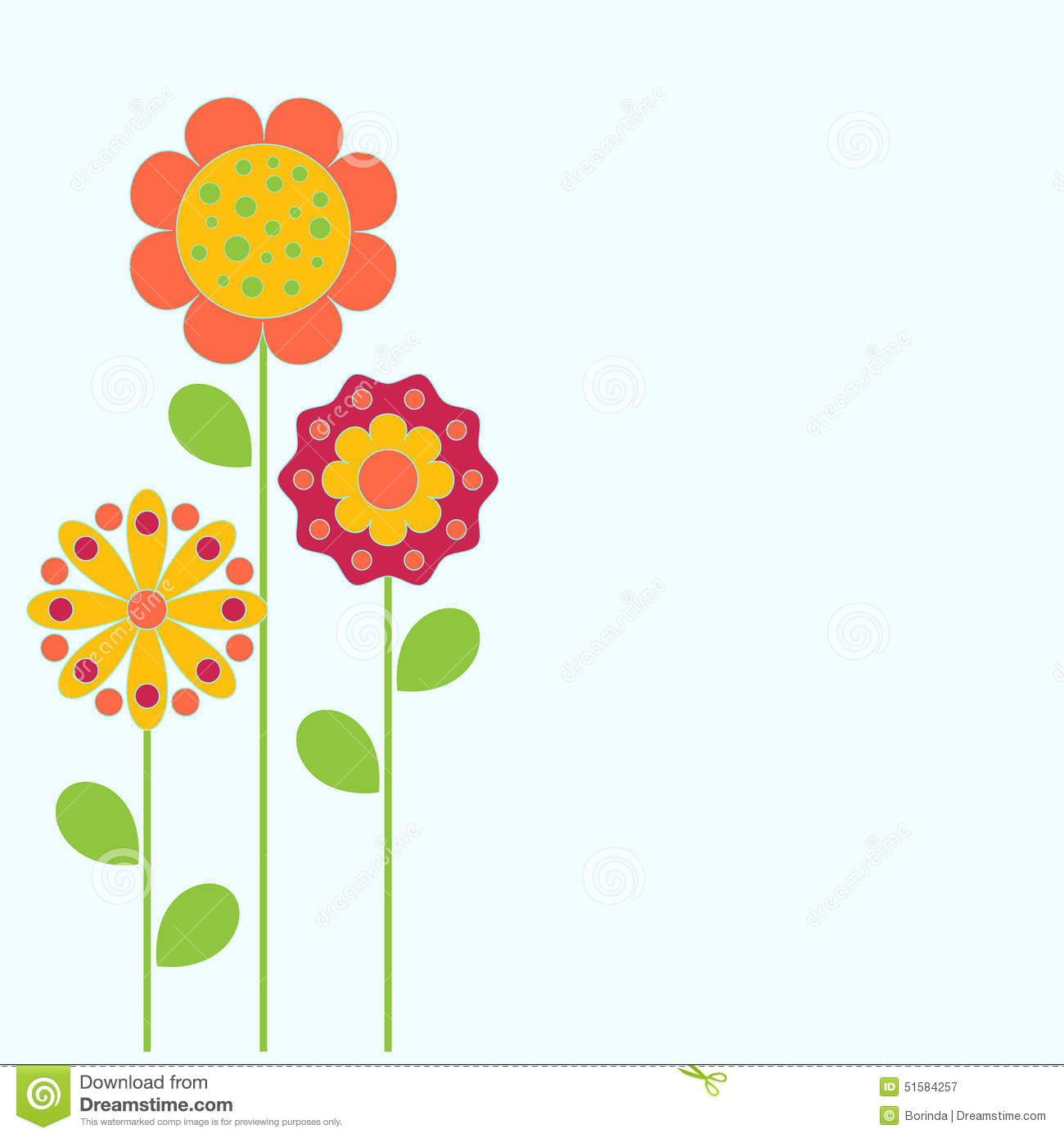 Flowers Illustration Flower Card Stock Illustration Illustration