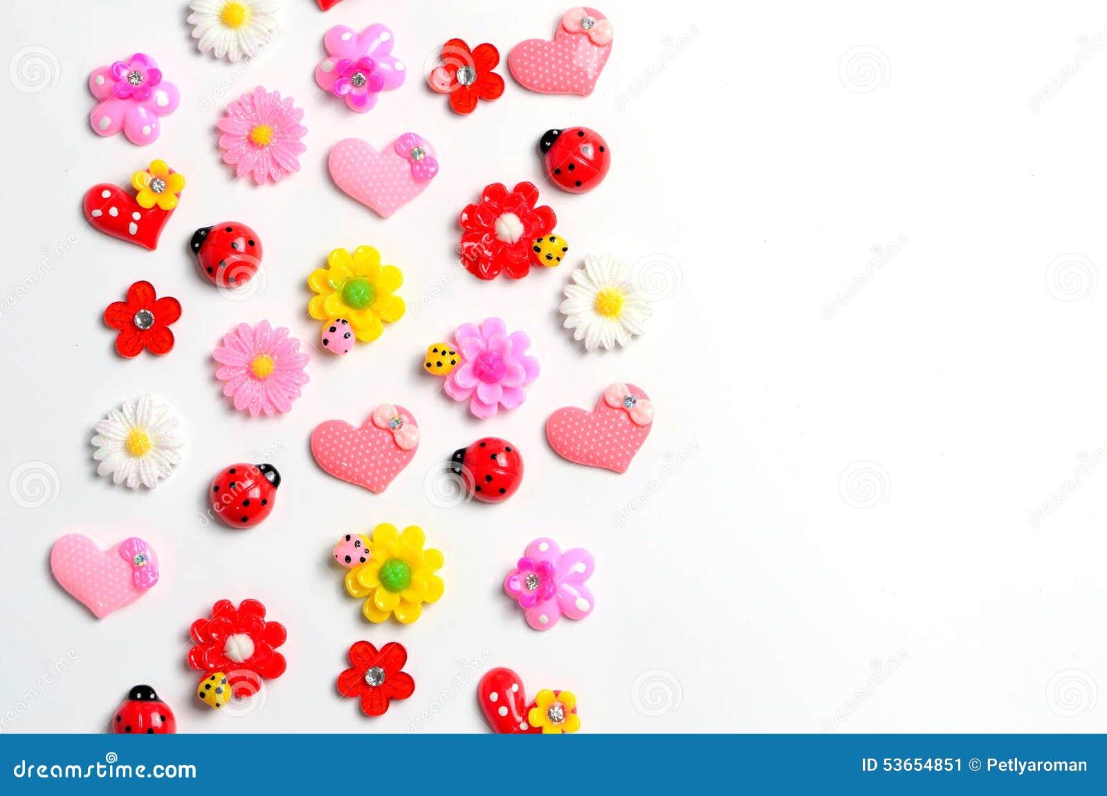 Flowers, Ladybug, Hearts, Wallpaper Stock Illustration ...