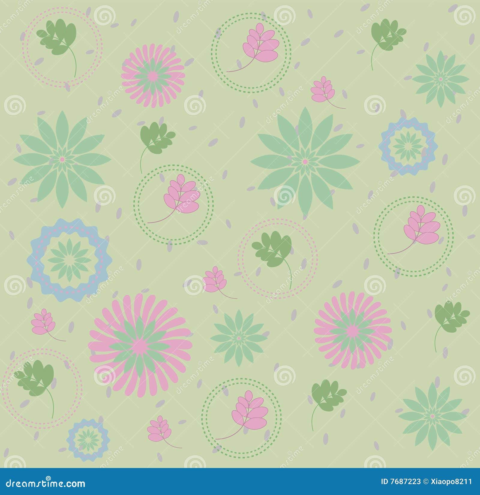 Flowers & leaves pattern