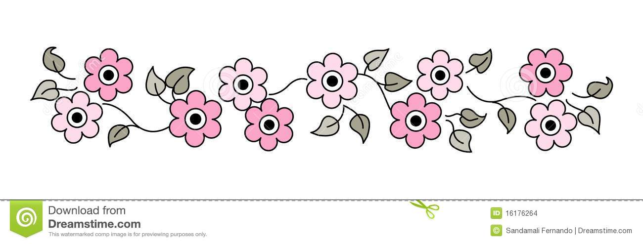 Cute Flower Line Drawing : Flowers line divider stock vector illustration of
