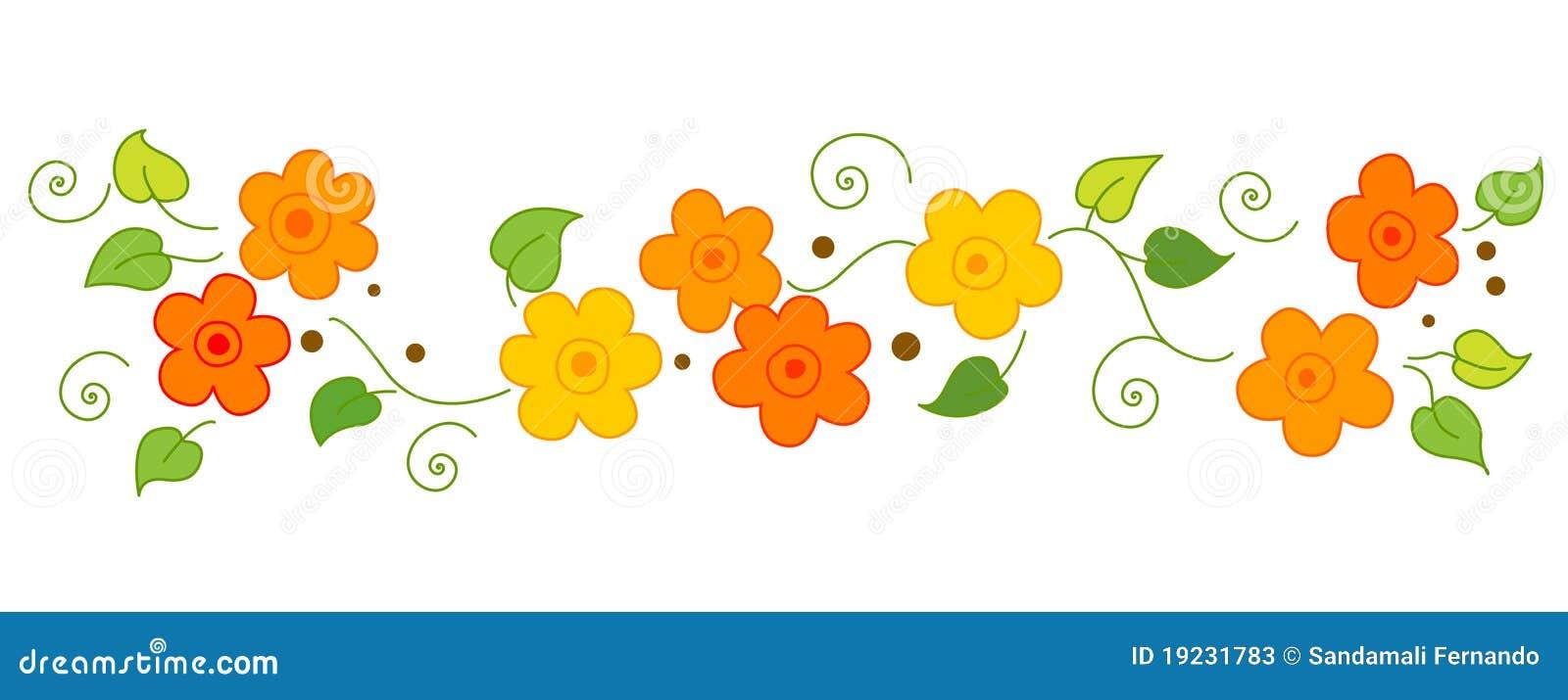 Flowers Line / divider stock vector. Illustration of ...