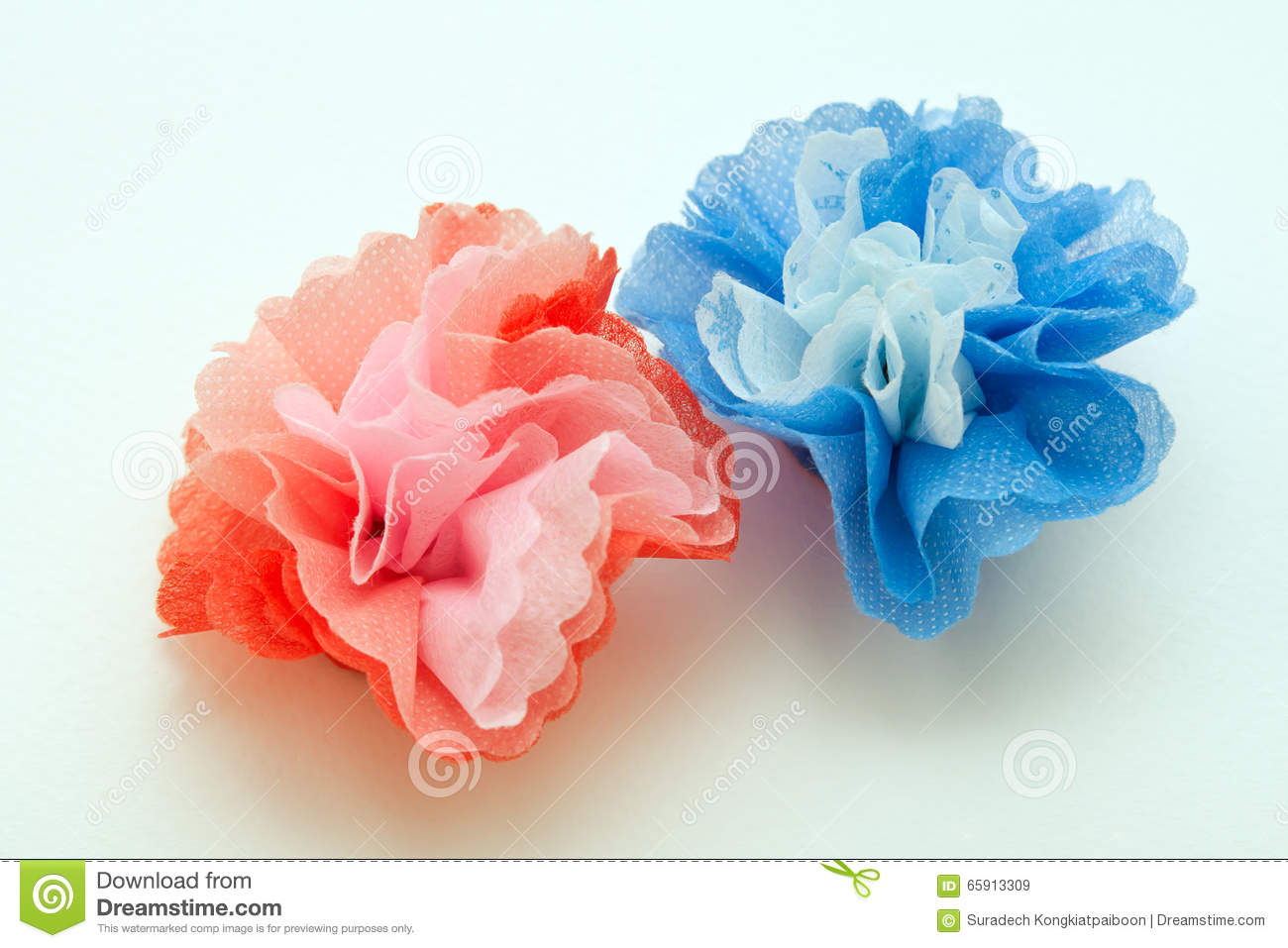 Flowers Made From Paper Craftwork Stock Image Image Of Japanese