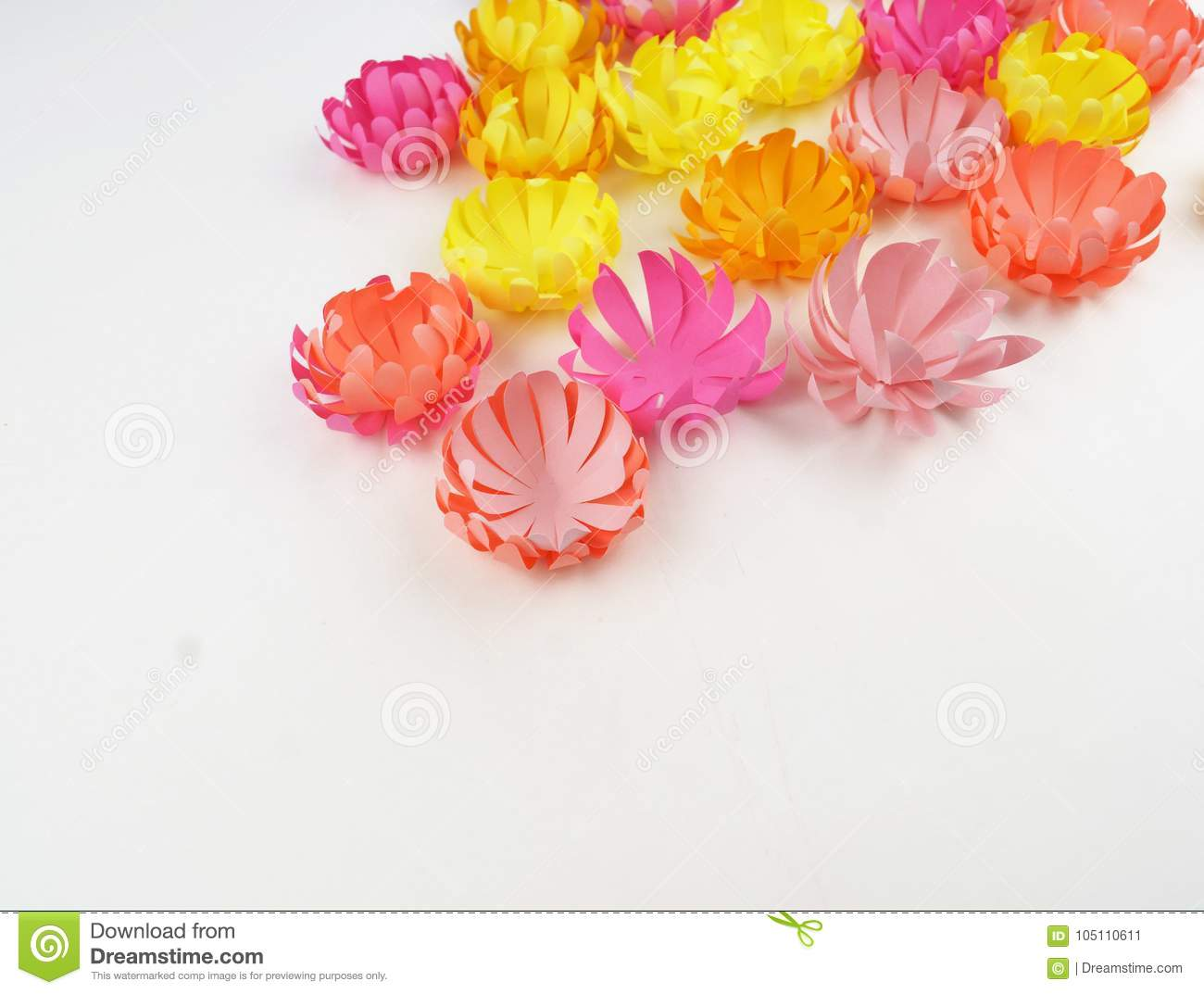 Flowers Made Of Paperper Flowerspring Stock Image Image Of