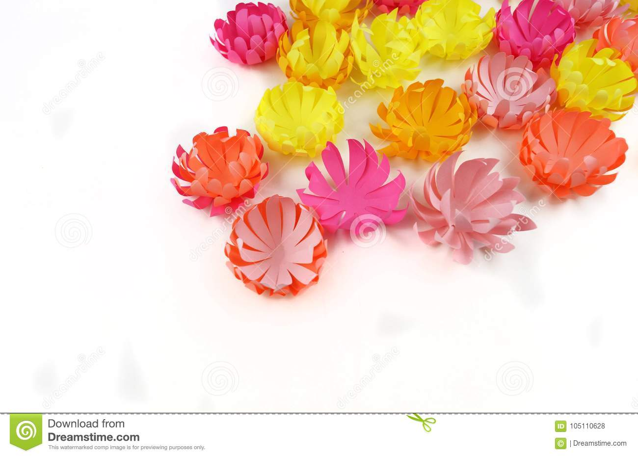 Flowers Made Of Paperper Flowerspring Stock Photo Image Of