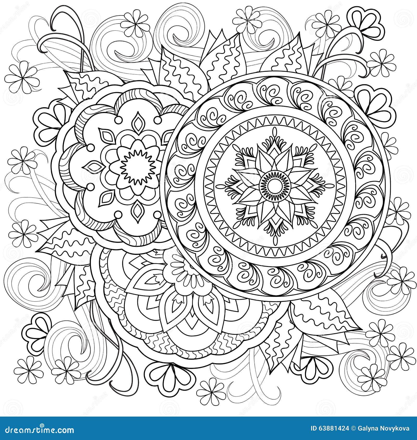 Flowers Mandalas B10 Vektor Abbildung Illustration Von