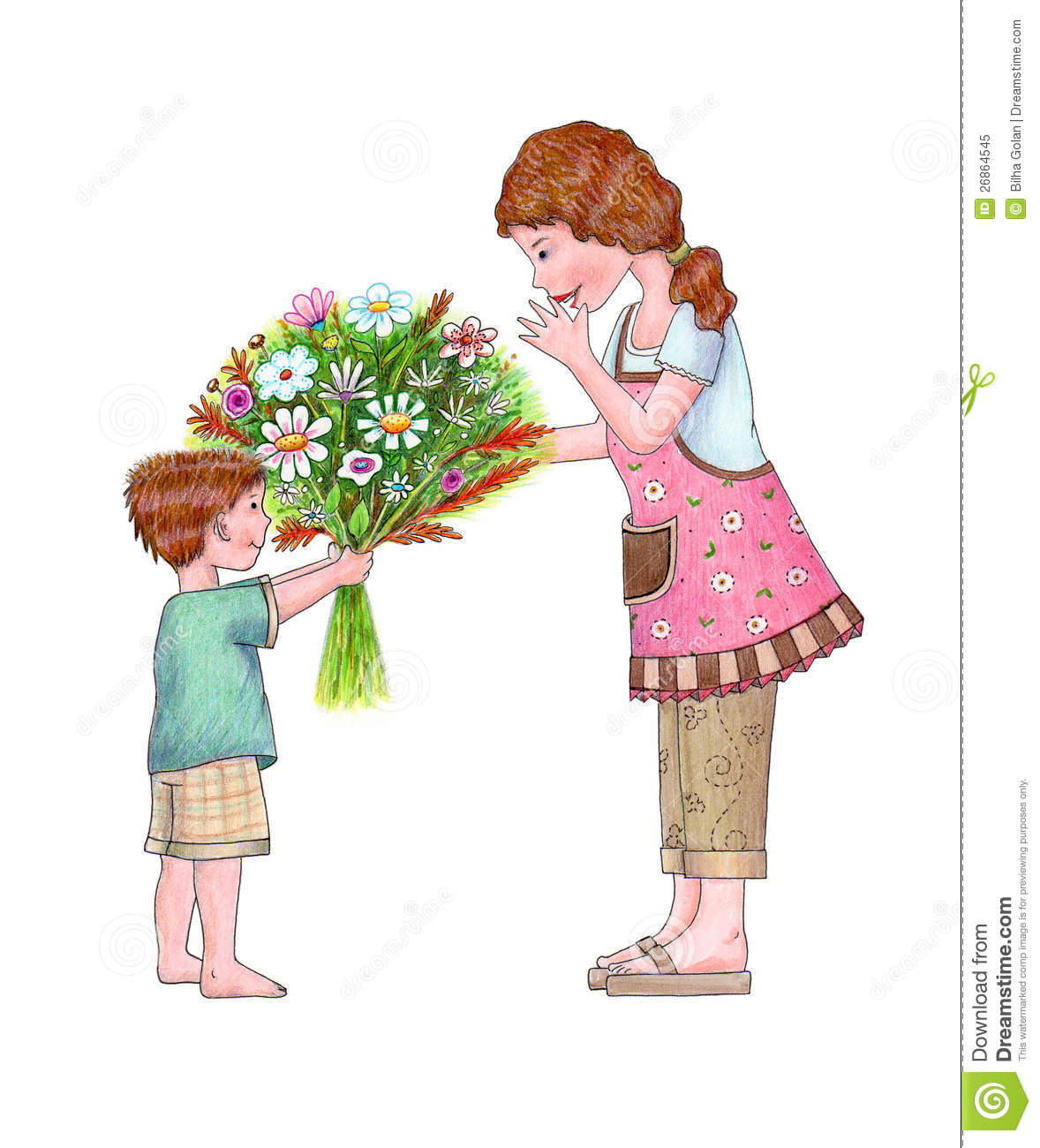 Flowers For Mom Royalty Free Stock Image