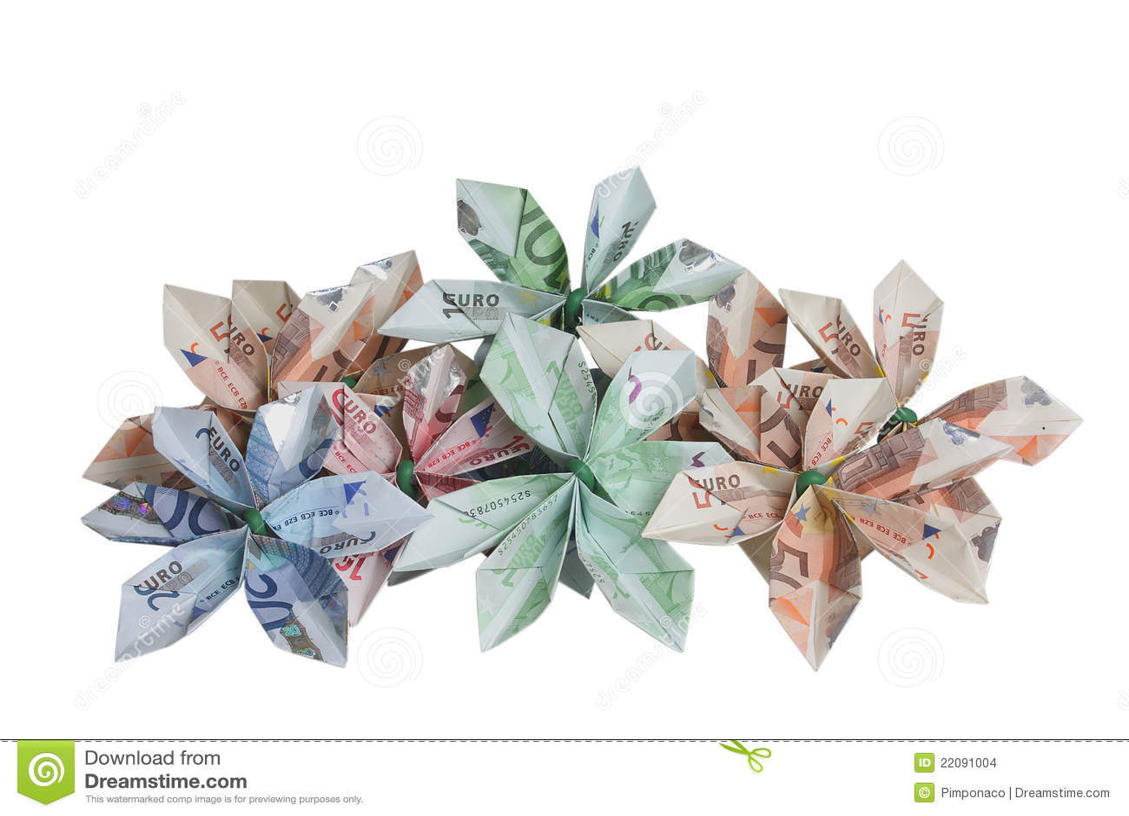 Flowers Of Money Stock Photo Image Of Crisis Money 22091004