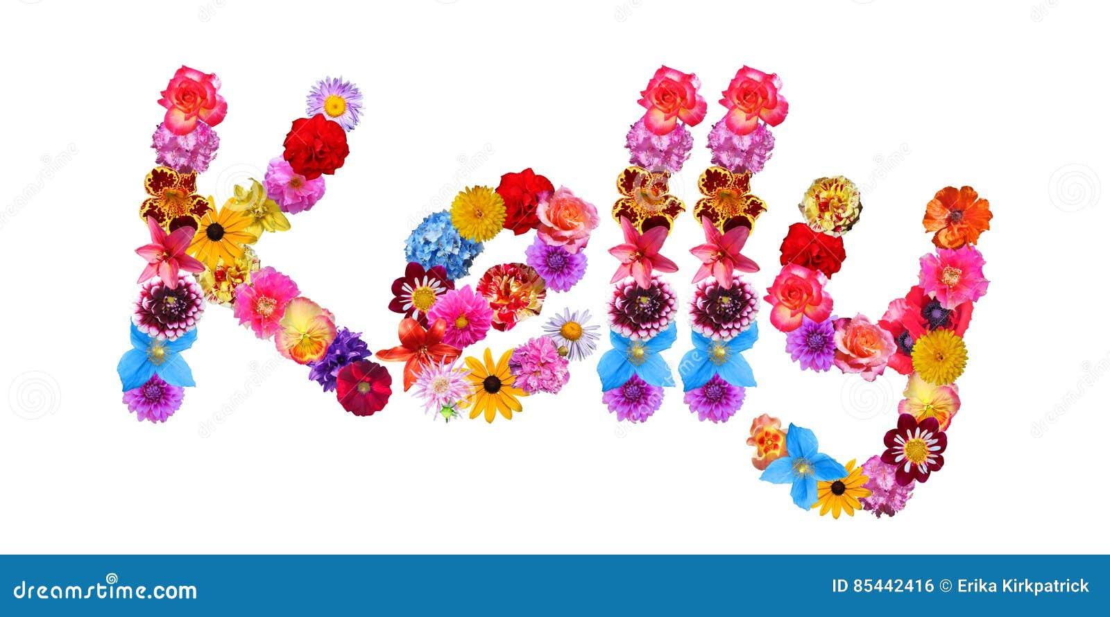 Flowers Name Kelly stock illustration. Illustration of ...