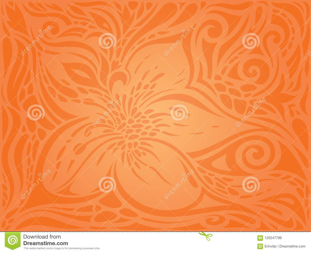 flowers orange retro style colorful floral wallpaper background flowers orange retro style colorful floral wallpaper background 120247796