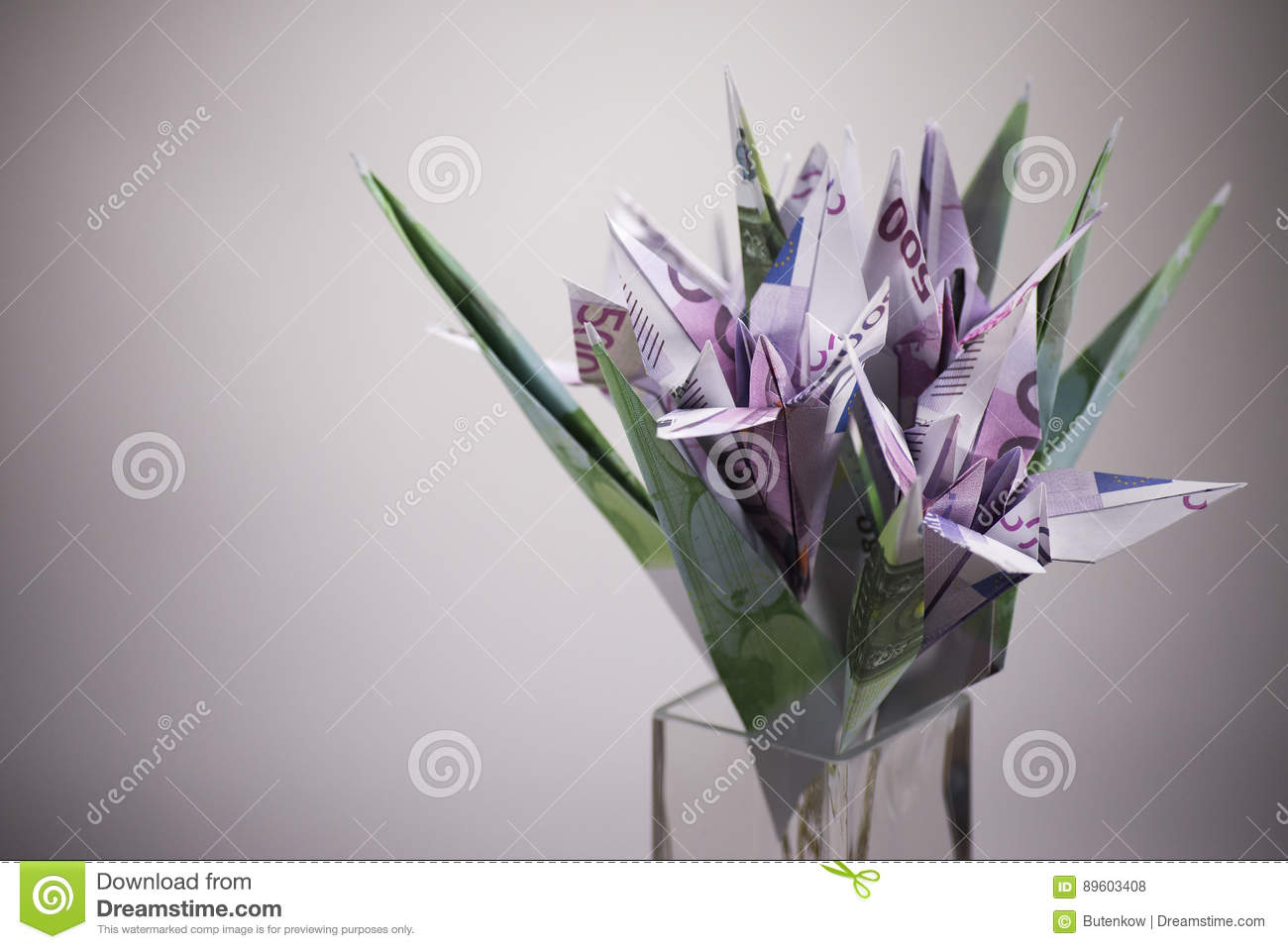 Flowers Origami Banknotes Stock Photo Image Of Lifetime 89603408
