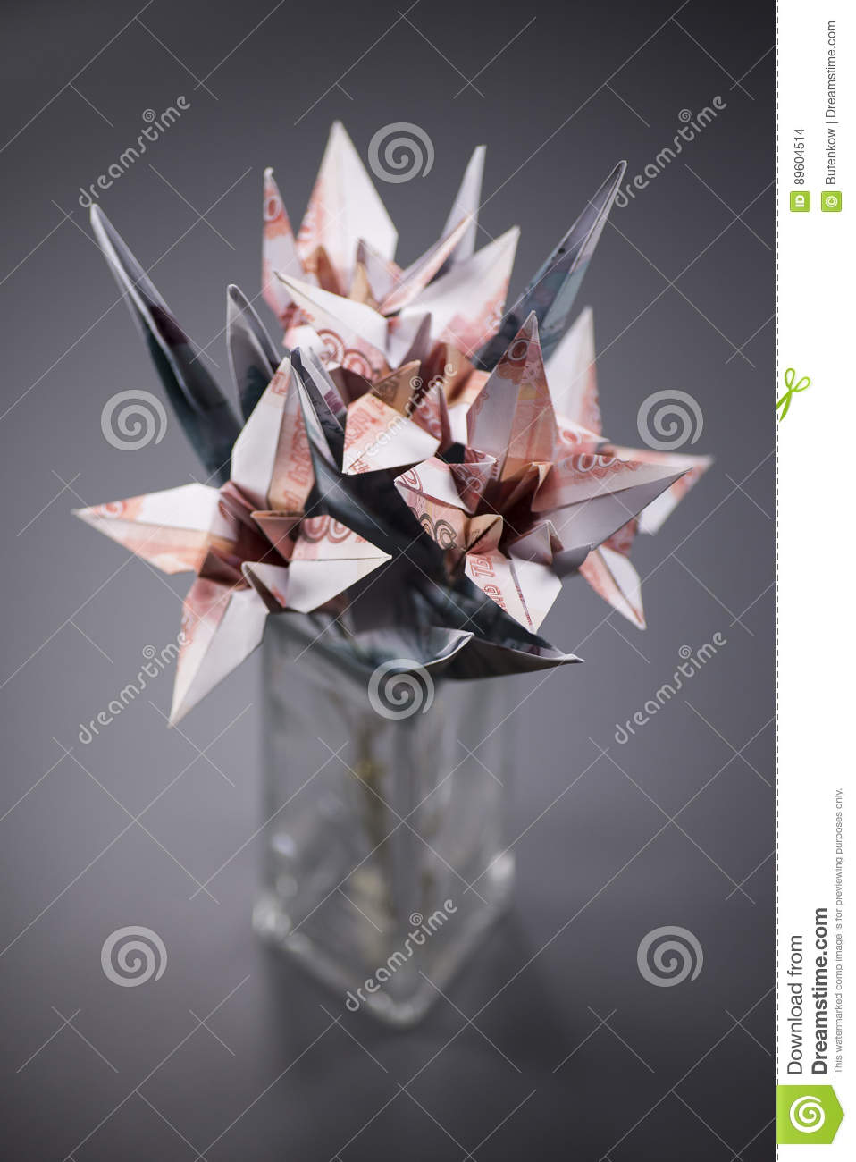 Flowers Origami Banknotes Stock Photo Image Of Floral 89604514