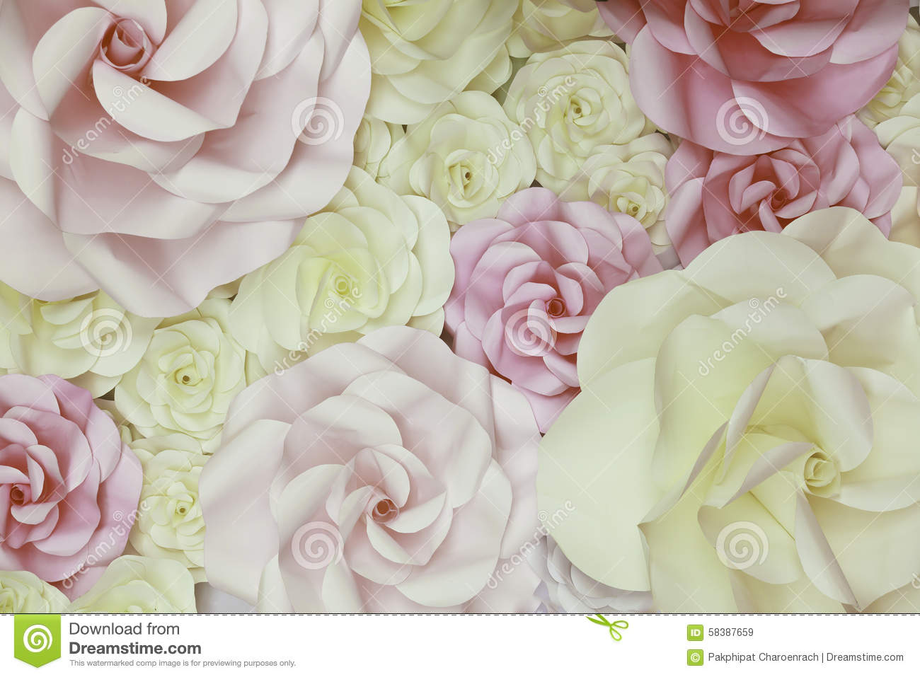 Flowers Paper Wedding Backdrop Background And Texture