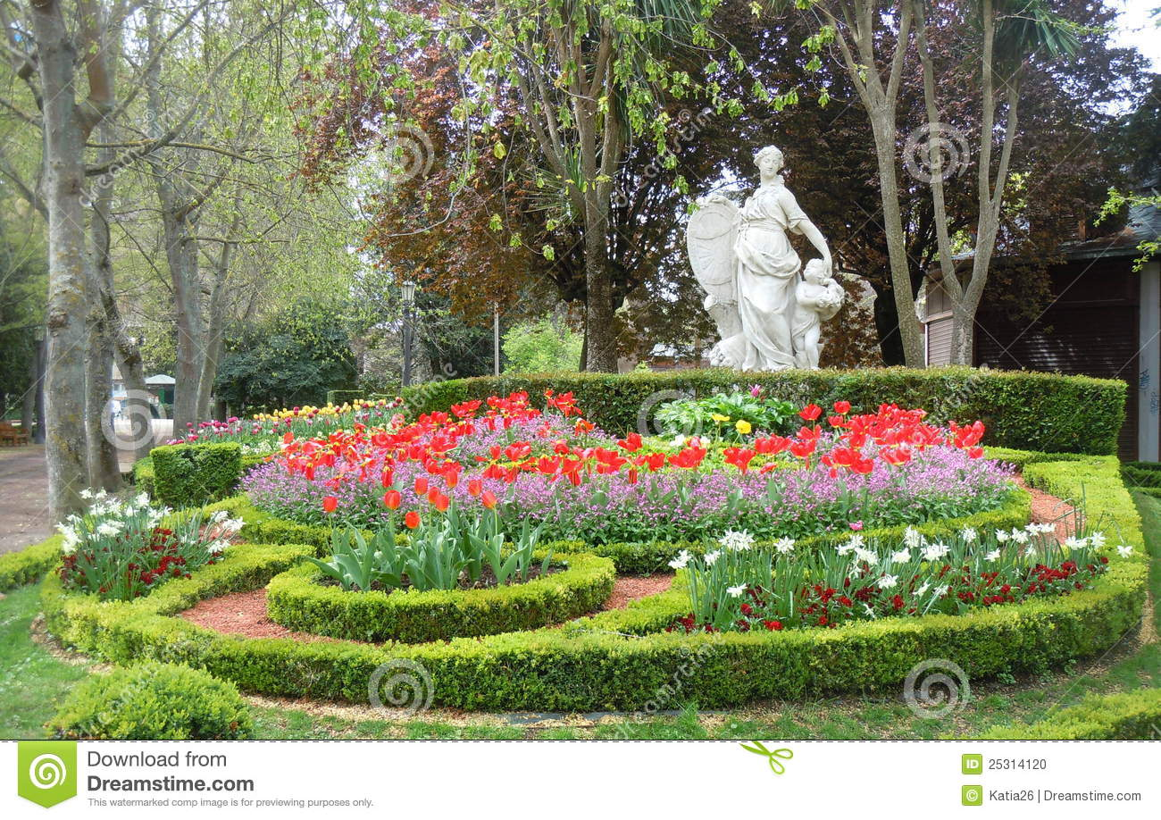 Flowers In The Park Stock Photo - Image: 25314120