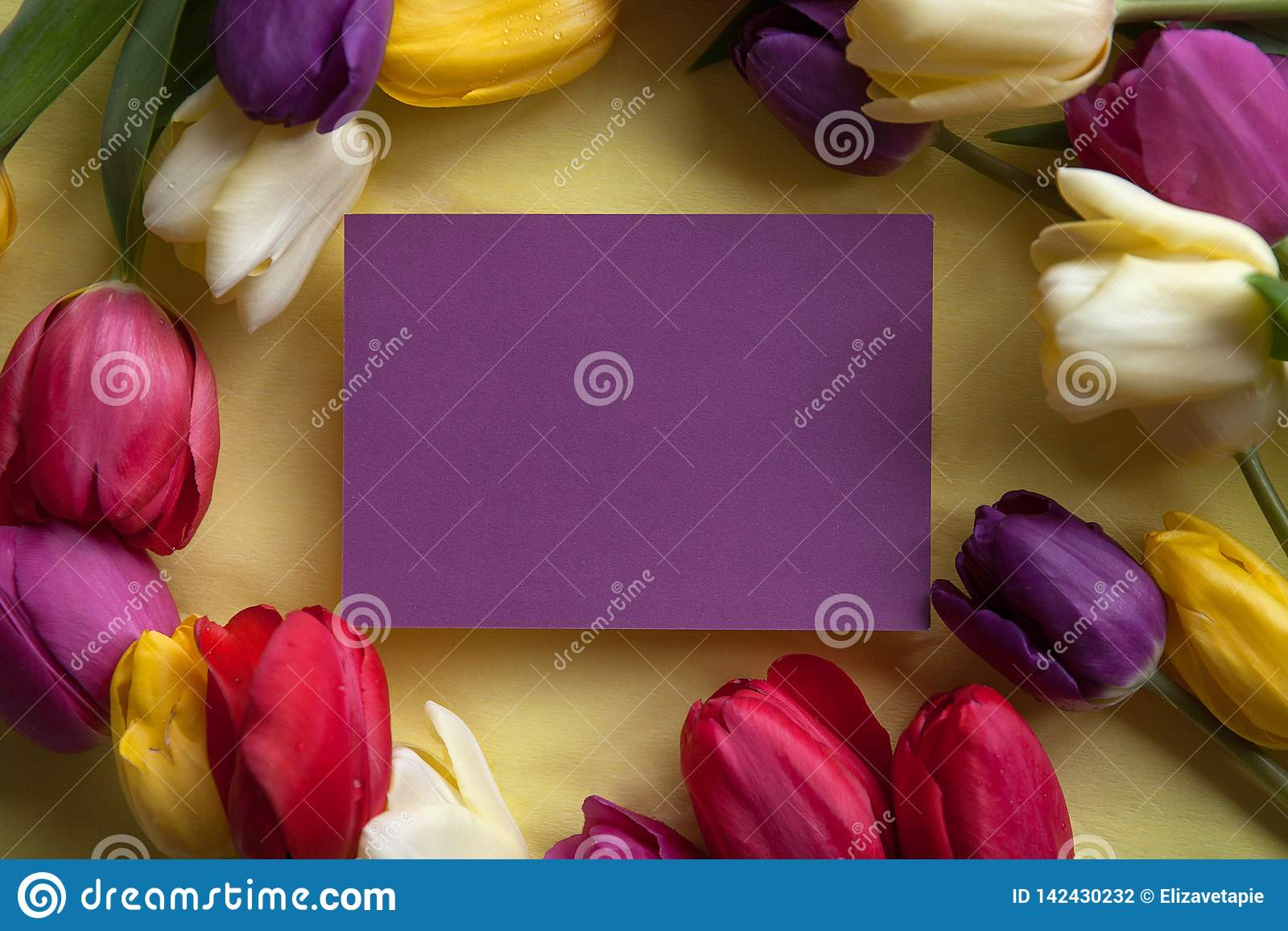 Flowers and a place for text