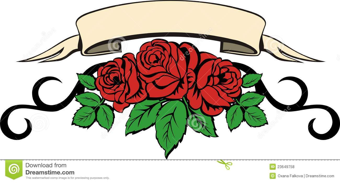 line of roses clipart - photo #39