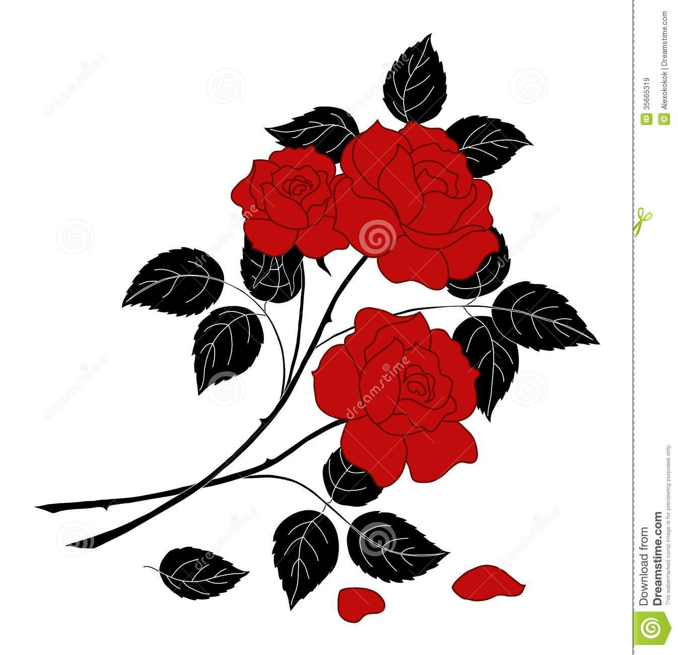 Flowers rose, silhouette stock image. Image of graphic ...