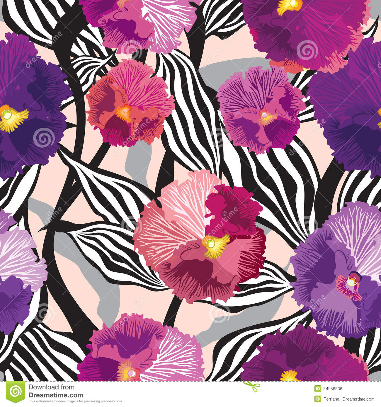 Flowers Seamless Background. Floral Seamless Texture With