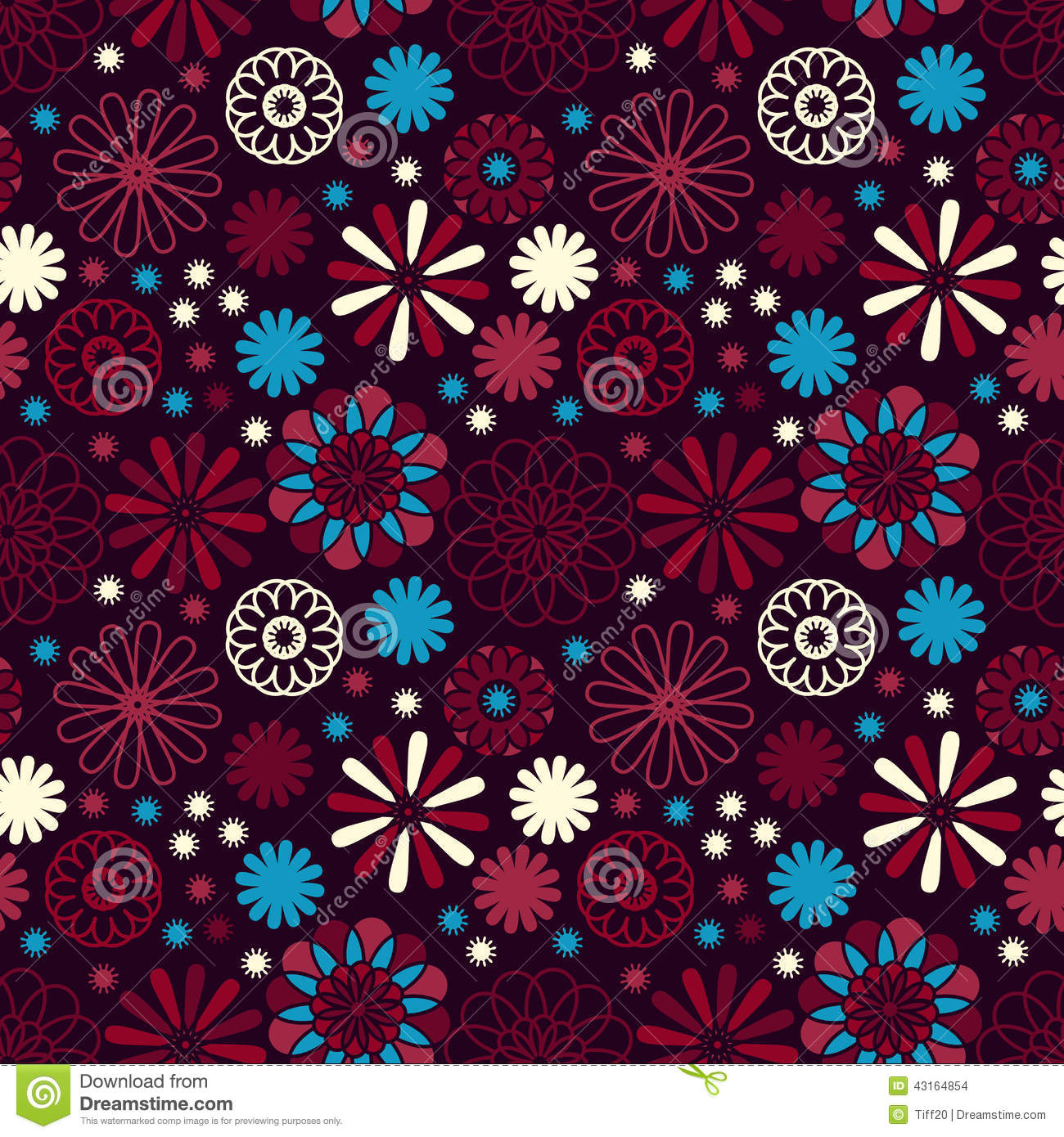 Simple flower pattern background - photo#23