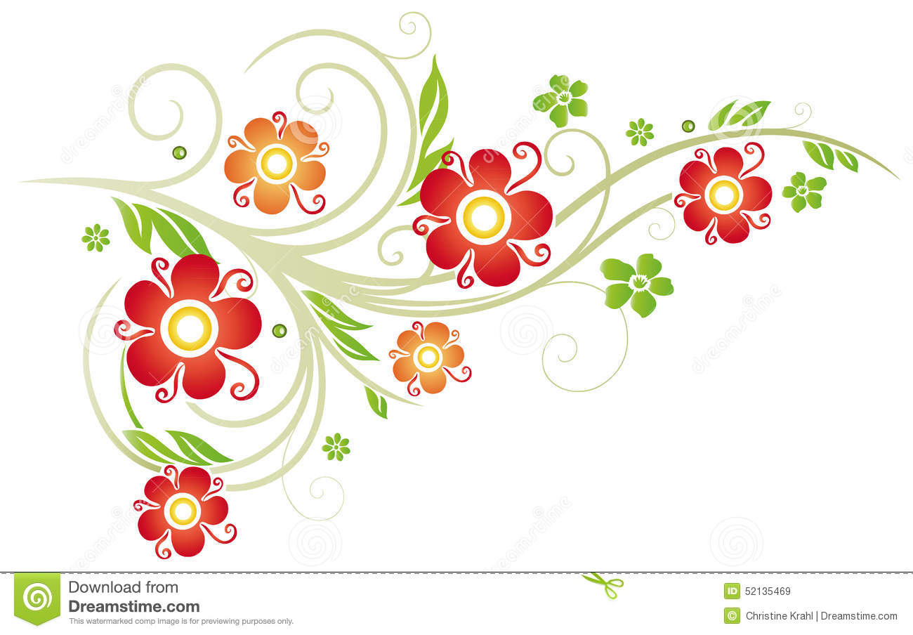 Flowers, Spring Stock Vector - Image: 52135469