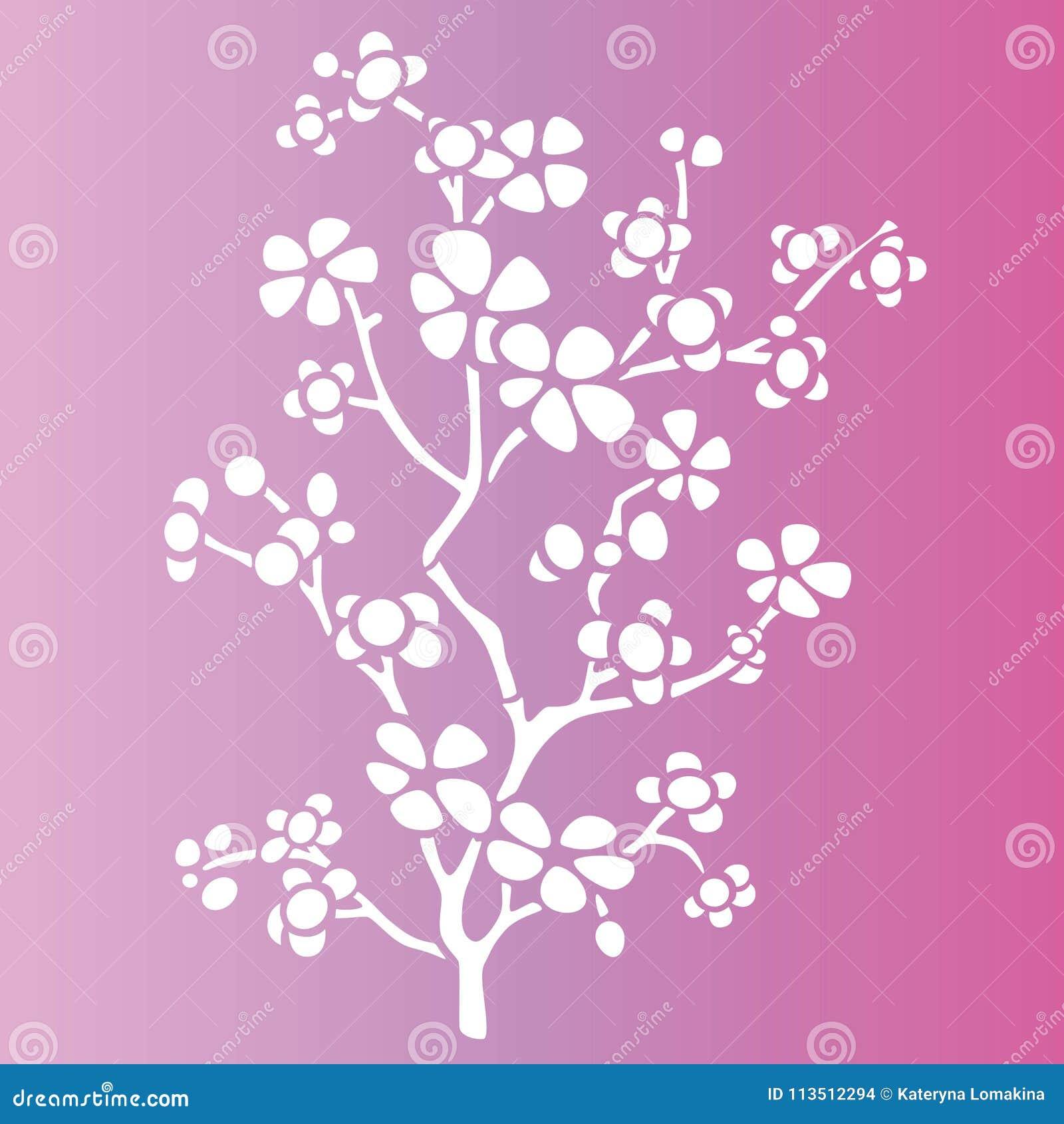 Flowers Spring Stencils Stock Illustration Illustration Of Spring