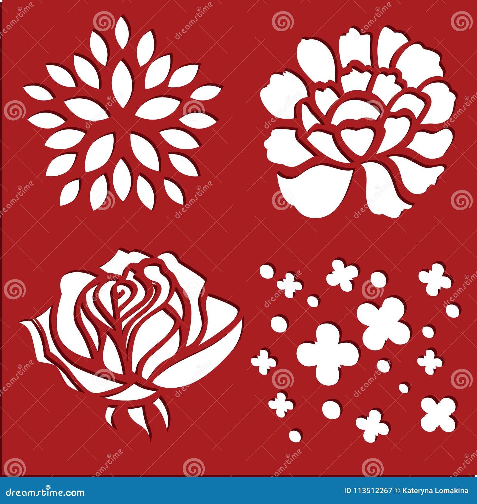Flowers Spring Stencils Stock Illustration Illustration Of Ornament