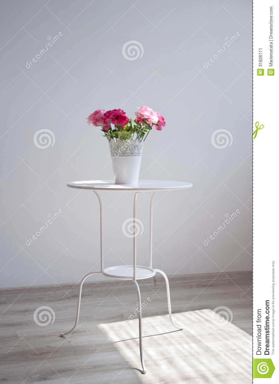 Flowers On The Table Stock Image Image 31826111