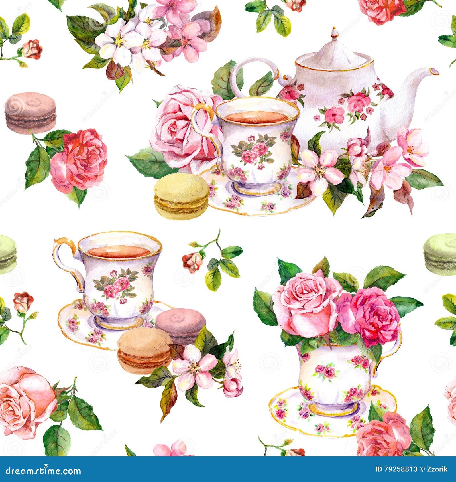 Cake Cups Tea
