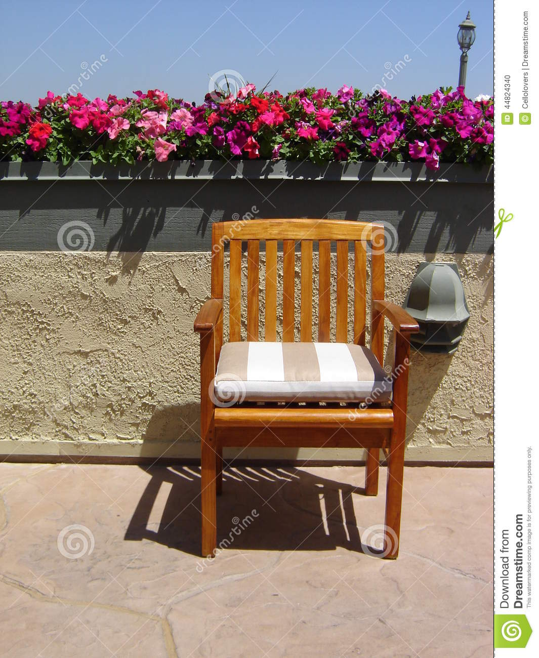 Flowers Top Of Chair Rooftop Patio Old Fashioned Light