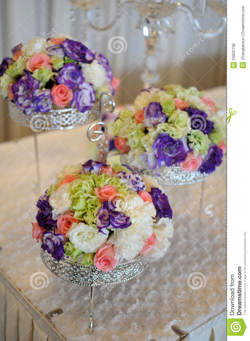 Chinese Wedding Flowers At The Wedding Ornament