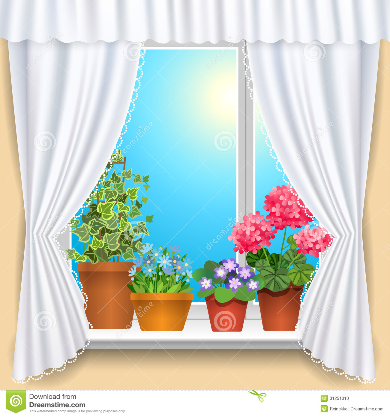 Window Curtains Clipart for Window With Curtains Clipart  557yll