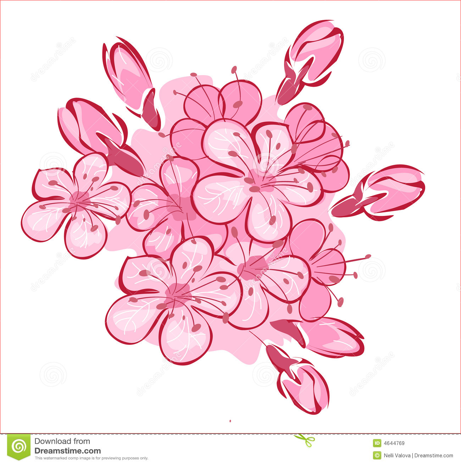 Flowerses às cerejas