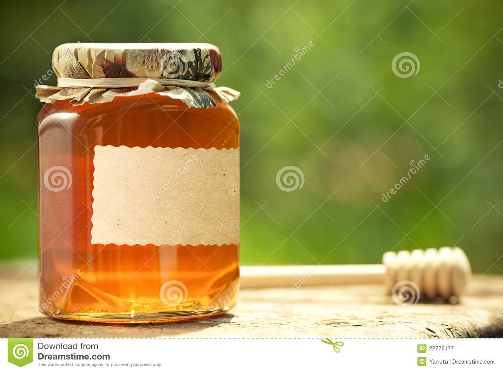 Flowery βάζο μελιού γυαλιού