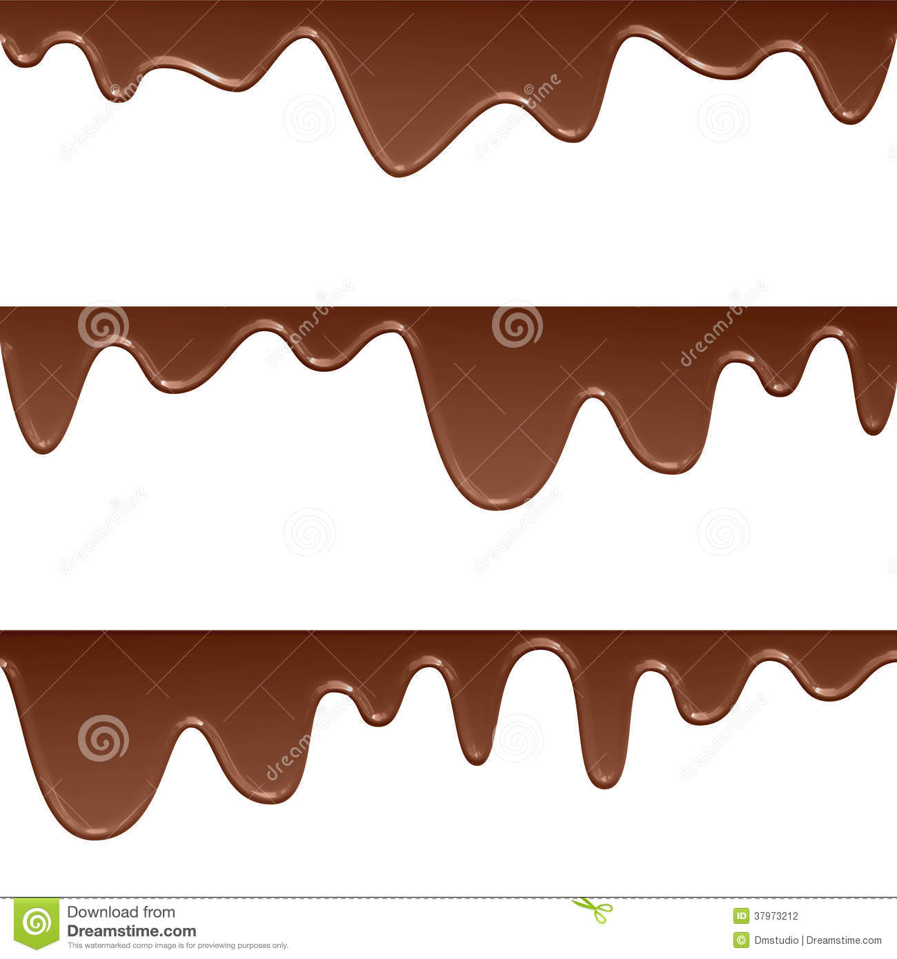 Flowing Chocolate Drops Stock Images - Image: 37973094