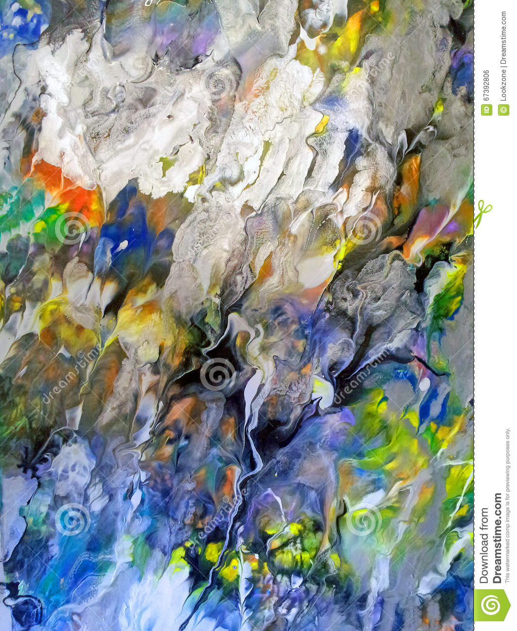 Flowing Colors Abstract stock photo. Image of cascading ...