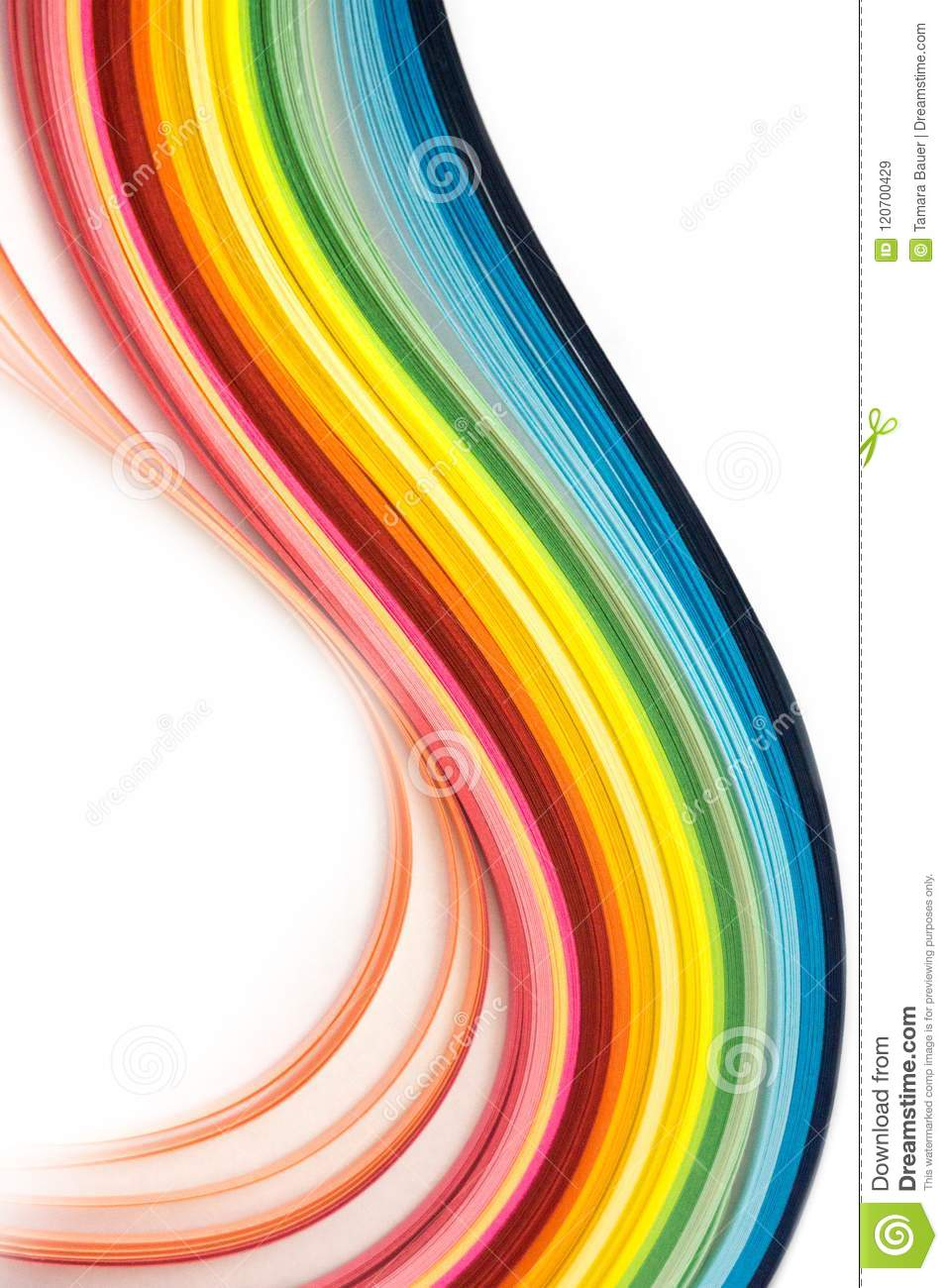 Rainbow Quilling Paper Strips Stock Image Image Of Paper Quilling