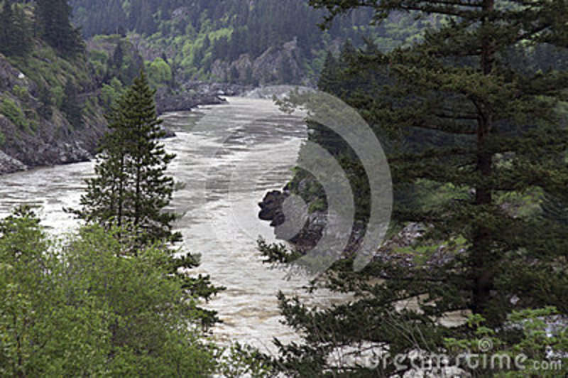 Flowing river canyon