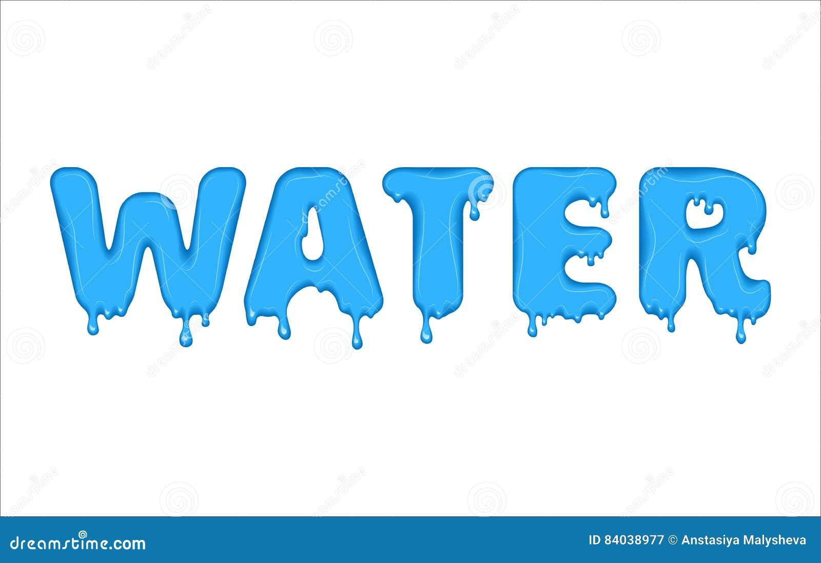 Water bubble writing