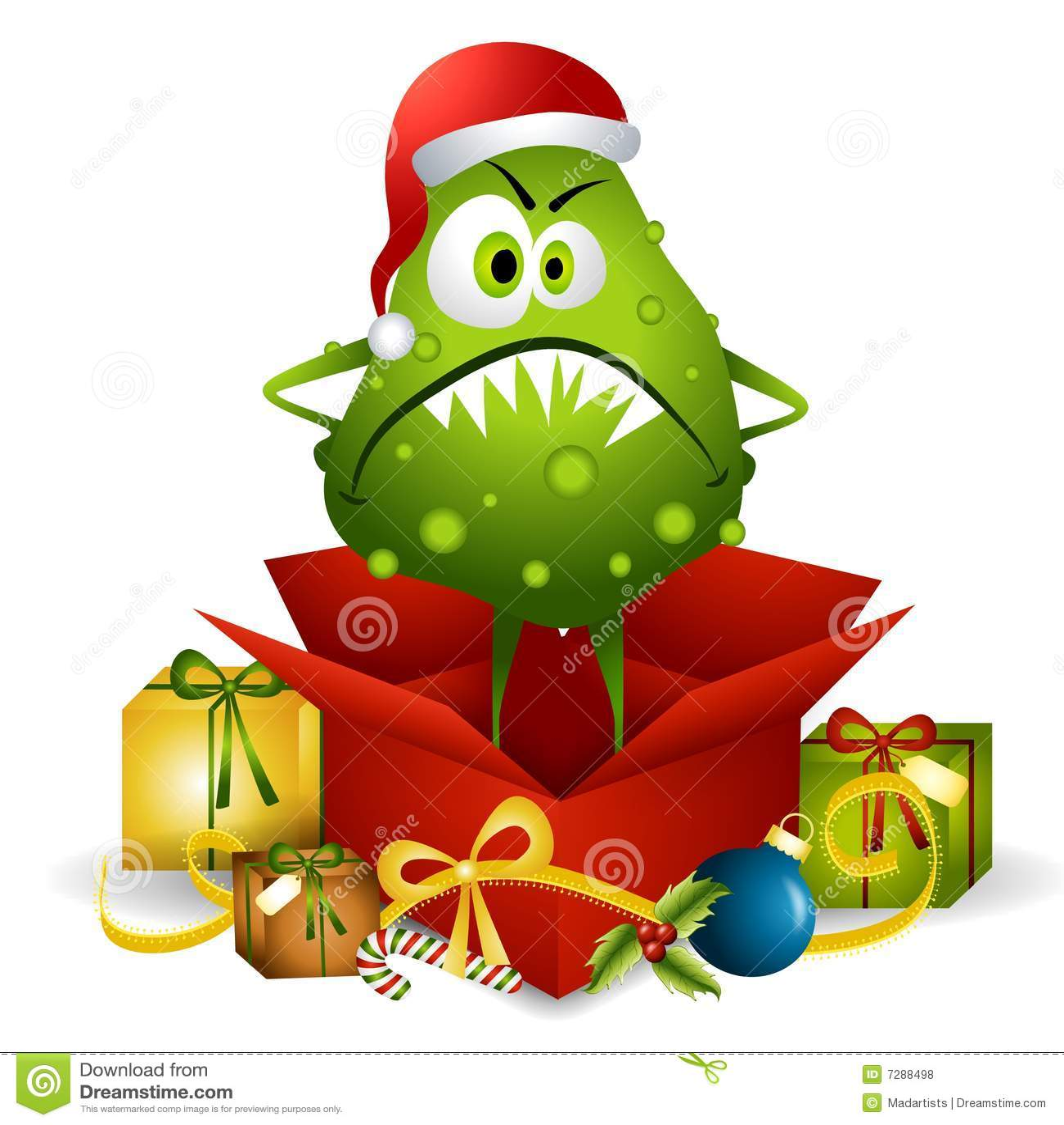 Flu bug christmas present royalty free stock photos image 7288498