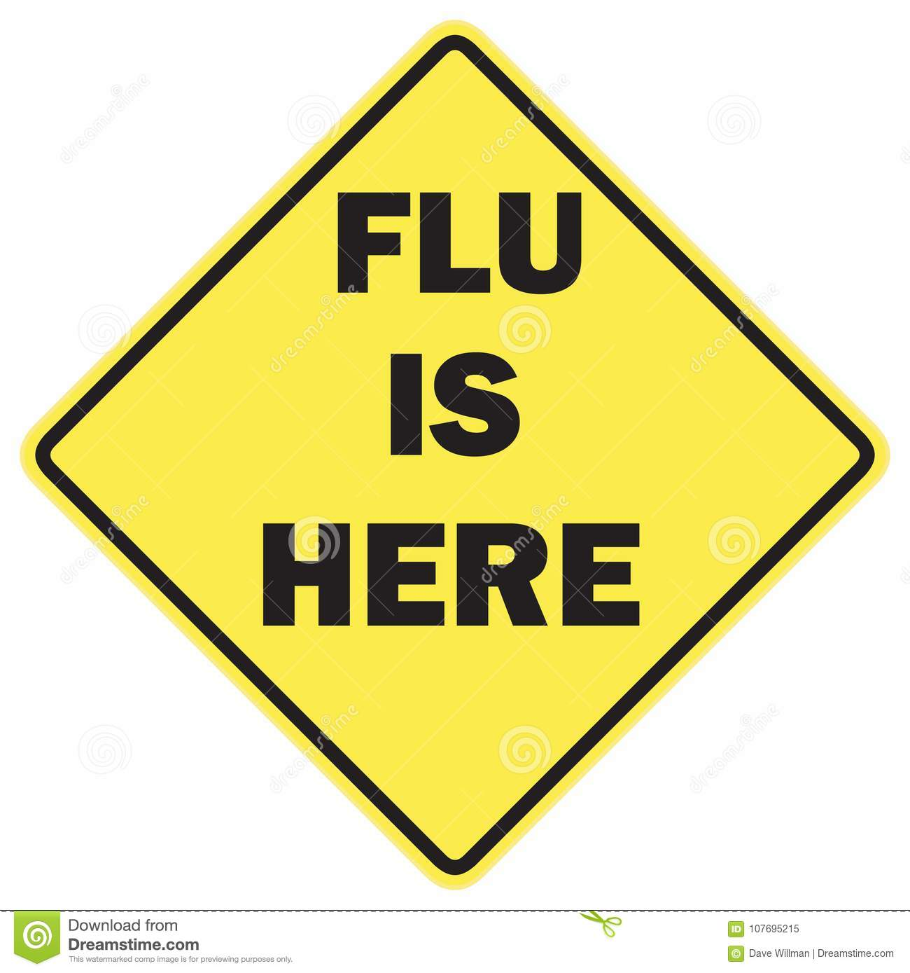Flu is here warning sign